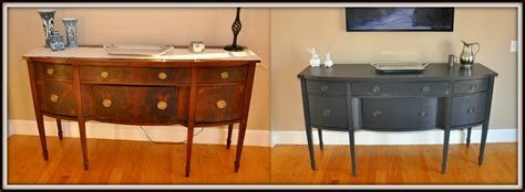 Sideboard Desk by Painting Our Dining Room Furniture After Pictures 2