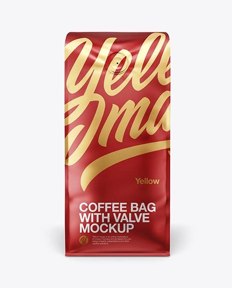 We add new mockups every day. 16oz Matte Metallic Coffee Bag Mockup - Front & Bottom ...