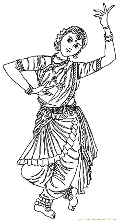 indian coloring page  india coloring pages
