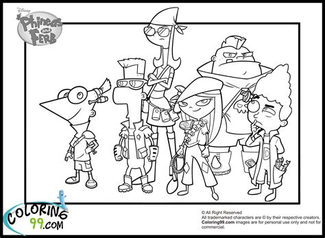 Phineas And Ferb Coloring Page - Eskayalitim