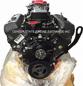 New 4 3l  V6 Vortec Gm Marine Base Engine W   Mpi Intake