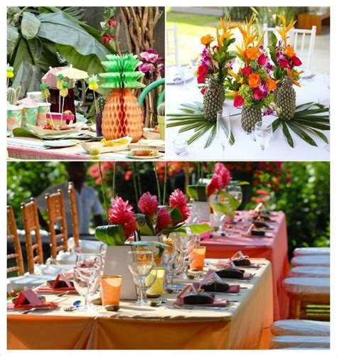 decoration mariage tropical  idees en  mariage