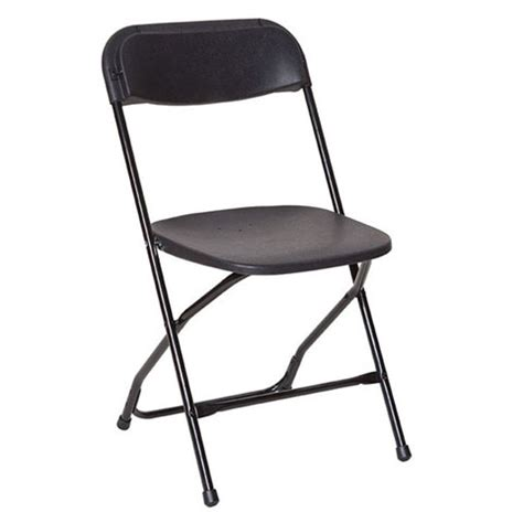 black folding chair lawson event rentals