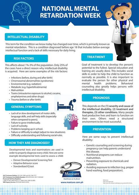 mental retardation maxicare infographic mental