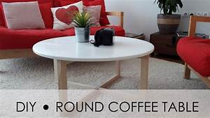 diy round coffee table easy simple youtube With make a round coffee table