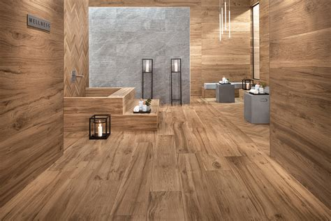 wood  tile  distressed rustic modern ideas