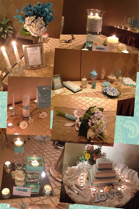 tiffany buffet table ls tiffany blue wedding decor done by me memory unity candle