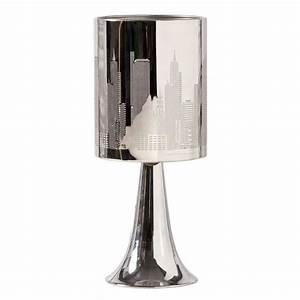 NEW YORK Lampe à poser tactile. Hauteur 30 cm