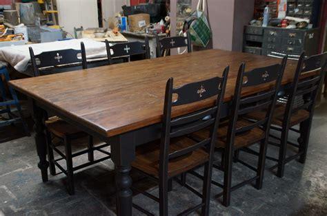 table meuble cuisine table de cuisine dessus fait avec vieux bois vr 2345 le