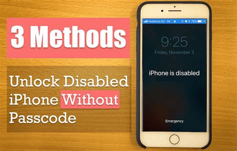 how to access iphone without passcode disabled iphone se