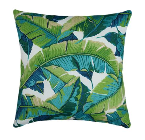 tropical outdoor pillows tropical outdoor pillow cover 21x21 green outdoor cushion