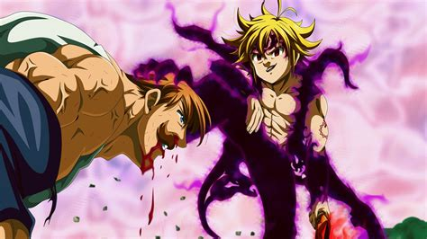 Nanatsu no Taizai Anime Meliodas Assault Mode Vs Escanor