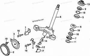 Honda Motorcycle 1978 Oem Parts Diagram For Steering Stem