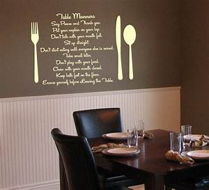 20 fabulous dining room wall decorating ideas home and With kitchen colors with white cabinets with vinyl scripture wall art