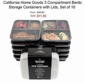 California Home Goods 3 Compartment Bento Storage ...