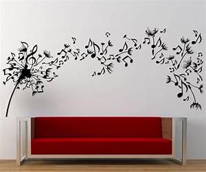 music dandelion wall art decal wall decal wall art decal With music wall art