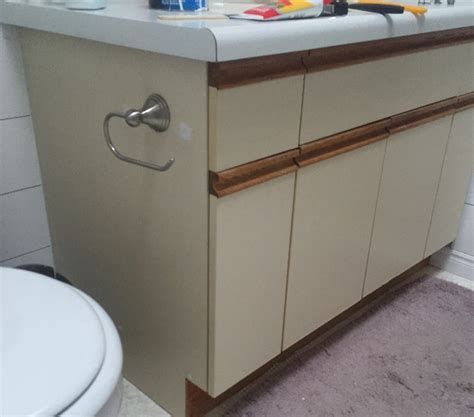 Painting Laminate Bathroom Cabinets - bathroom update how to paint laminate cabinets the