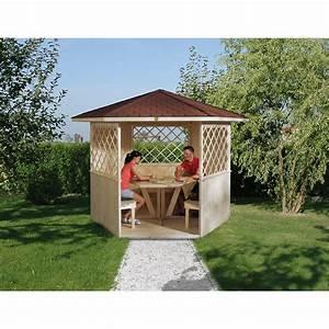 Pavillon Im Garten : weka 6 eck pavillon mainau kaufen bei obi ~ Michelbontemps.com Haus und Dekorationen