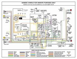 1956 Chevy 150 210 Belair Color Wiring Diagram