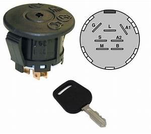 Ignition    Starter Switch  U0026 Key Fits John Deere L100 L105