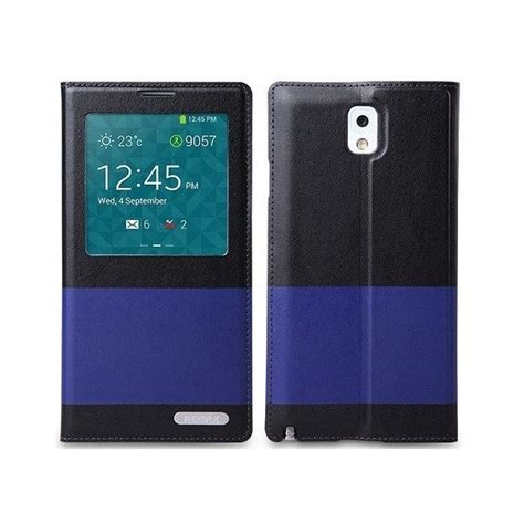 housse galaxy note 3 remax flip cover noir