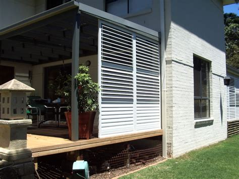 aluminium shutters for privacy screens modern porch