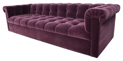 Purple Contemporary Sofa by Contemporary 3 Seater Handmade Velvet Chesterfield Sofa