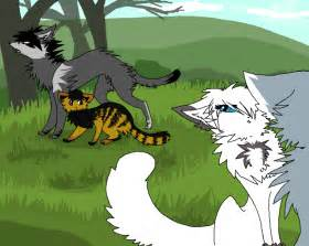Warrior Cats Snowfur and Thistleclaw