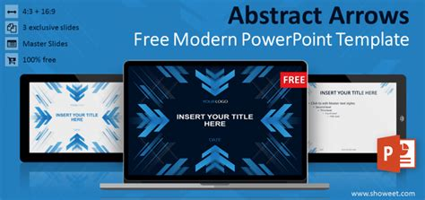 free modern powerpoint templates abstract arrows powerpoint template