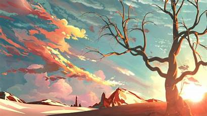Painting Sunset Wallpapers Laptop 1080p Backgrounds 4k