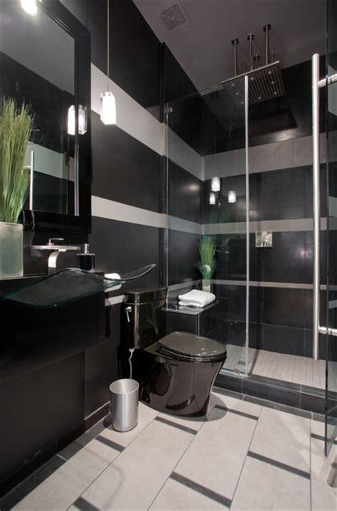 grey and black bathroom ideas black and gray striped contemporary bathroom