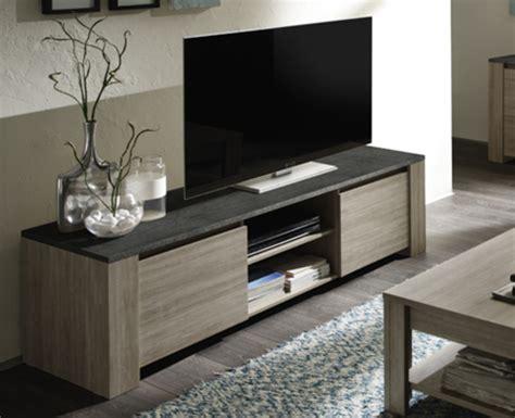 elements cuisine pas cher meuble tv 2 portes elba chene gris ardoise