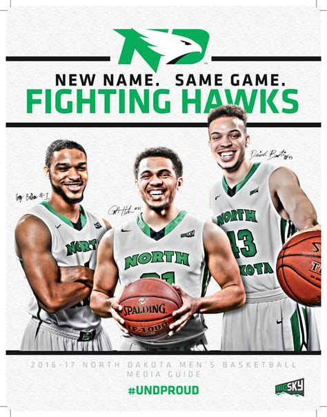 Greg Elinsky by 2016 17 Und S Basketball Media Guide By Of