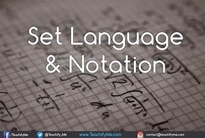 Set Language And Notation