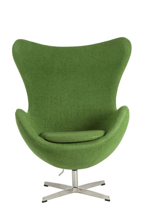 egg chair  green replica arne jacobsen egg lounge chair