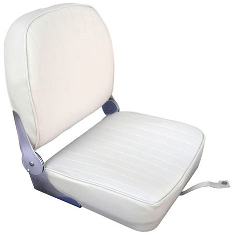 siege rabattable osculati siège pilote bateau à coussin vinyle blanc