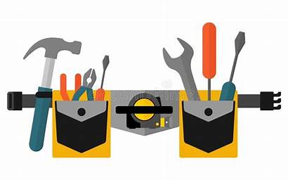 Belt Vector Tools Tool Cartoon Construction Background