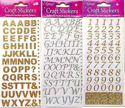 glitzer zum aufkleben selbstklebend zum aufkleben glitzer alphabet buchstaben nummern ebay