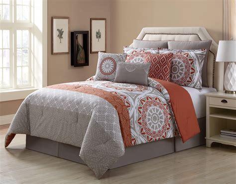 9 piece tibet clay taupe 100 cotton comforter set