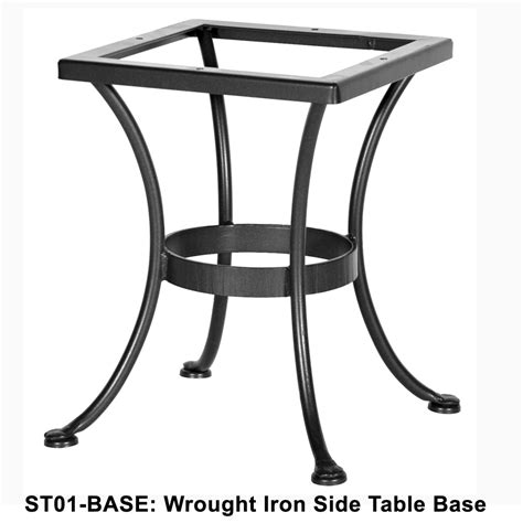 standard wrought iron side table base ow at forpatio