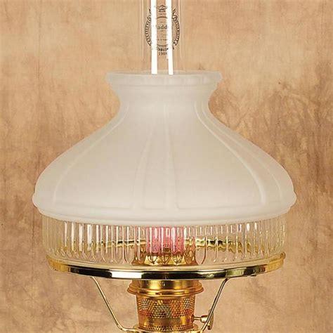 Aladdin White Top Glass Oil Lamp Shade, Lamp Shades Lehman's