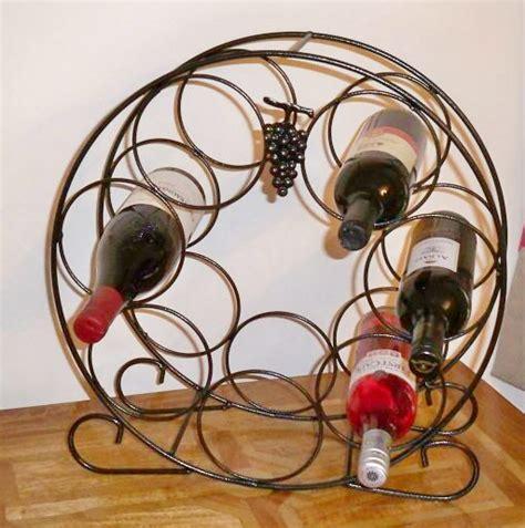 circular wine rack solid steel  antique black finish