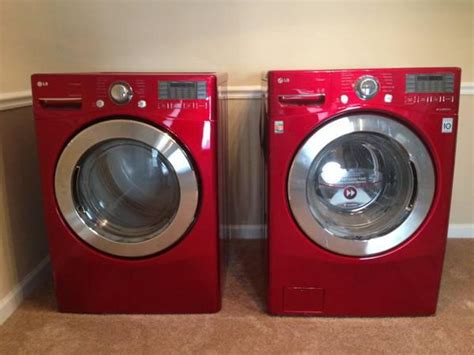 red lg  cu ft front loader washerdryer  sale