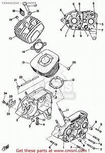 Yamaha Rs100b 1975 Crankcase - Cylinder