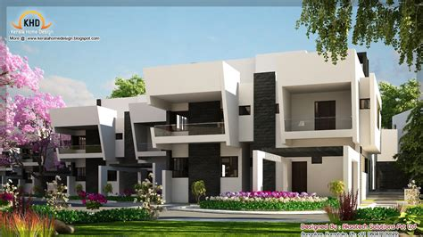 contemporary home design plans 2 beautiful modern contemporary home elevations kerala