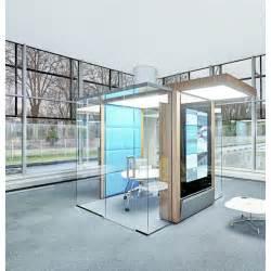 bureau informatique verre trempé espace de travail isolé pour bureaux en openspace