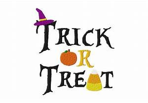 Trick or Treat Embroidery Design for Gold Members – Daily ...
