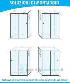 box doccia 75x100 vendita box doccia angolare anta fissa porta scorrevole