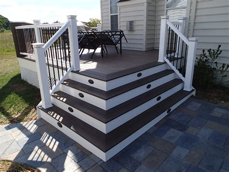 deckscom composite decks  pvc vinyl railing