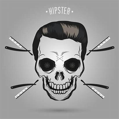 Skull Barber Hipster Vector Beard Vecteezy Clipart